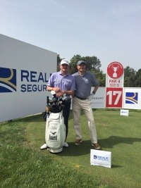 Danni Worth and Paul Lawrie at the Golf Spanish Open sponsored by Reale Seguros.